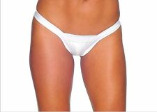 BZ-1129 Sexy Stripper Gogo Dancer Wear Outfit White Comfort V Back Thong