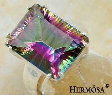 HOT SALE Hermosa Mystical Rainbow Fire Topaz 925 Sterling Silver Ring s.7