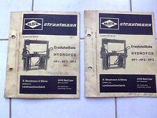 Strautmann Siloentnahmegerät  Hydrofox  HP 1 - HP 2  - HP 3  Ersatzteilliste