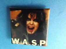 WASP BLACKIE LAWLESS HEAVY METAL BAND VINTAGE BUTTON COLLECTOR PINBACK mfg CANAD