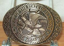 AWARD DESIGN MEDALS STATE OF ILLINOIS DRESS BUCKLE SIZE