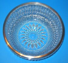 Vintage Lead Crystal and Silver Plate Bowl Marked Western Germany
