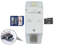 USB Flash Drive SD TF Card Reader For iPhone 7 6s 6 Plus 5 s iPad 4 Air Mini 2 3