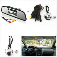 Car Rear View Mirror Display Monitor+Backup Reverse Parking License Screw Camera