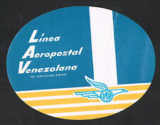 Luggage Label~Linea Aeropostal Venezolana~Venezuelan Airline~Abstract Design