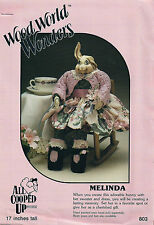 """CRAFT PATTERN FOR ADORABLE BUNNY with her SWEATER and DRESS - 17"""" TALL"""