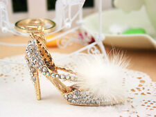 KC004 High-heeled shoes Keyring Swarovski Crystal Pendant KeyChain Bag Gift