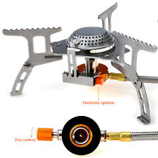 Camping Picnic Backpacking Steel Gas-Powered Cooking Stove Propane Butane Burner