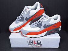 2015 Nike Air Max 90 Essential Grey/Red/White 537384-039 Men's Size 9.5