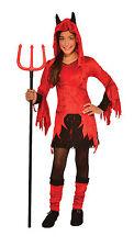 Kids  Devilina Devil Costume Girls Red Dress w/ Leg Warmers Size Medium 8-10