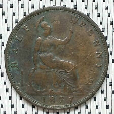 GREAT BRITAIN - 1877 - 1/2 Penny Victoria #CRV