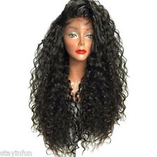 Long Side Parting Curly High Temperature Fiber Lace Front Wig Party Gift