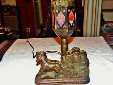 Art Glass Arts and Crafts Carriage lamp in Great shape