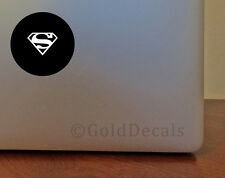 Superman - Mac Apple Logo Laptop Vinyl Decal Sticker Macbook Decal Batman Hero