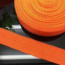"New 5 Yards Length  3/4"" 20mm Width Orange Strap Nylon Webbing Strapping"