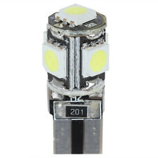T10 5 x SMD 5050 60LM 12V 1W  White Light LED Canbus Error Free Car Lamp