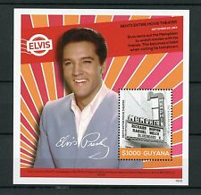 Guyana 2016 MNH Elvis Presley His Life in Stamps Rents Movie Theater 1v S/S II