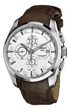 T0356271603100 Tissot Couturier Brown Leather Strap Mens Chronograph Watch