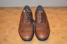 GEOX Men's Tan Leather Oxfords Size 10