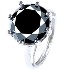 14.57+ct BLACK COLOR MOISSANITE .925 SILVER RING SIZE 9