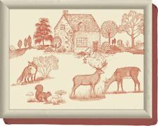 WOODLAND Toile POLTRONA CUSCINO LAP VASSOIO Laptray da Creative Tops