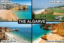 SOUVENIR FRIDGE MAGNET of THE ALGARVE PORTUGAL