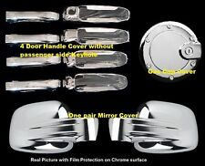 FOR JEEP LIBERTY 02-07 CHROME MIRROR, DOOR HANDLE, GAS TANK DOOR COVER W/O PSKH