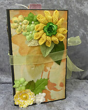 Handmade paper bags interactive scrapbook photos mini album w/embellishment