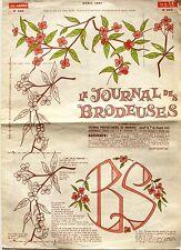 Le Journal des Brodeuses n°865 - 1967 - Ecussons pour Draps - Nappes -