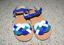 * Girls Infant Toddler Cole Haan Size 5 No Marking Blue Multi Sandals Shoes