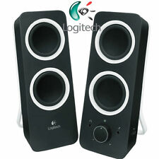 LOGITECH Z200 Speaker / Lautsprecher 2.0 Black - Audio Line-In / NEU - BLACK