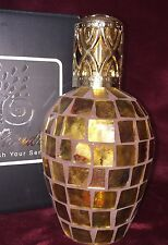LAMPE BERGER STYLE FRAGRANCE CATALYTIC LAMP ANTIQUED BRONZE MOSAIC, NEW IN BOX