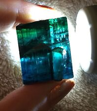 130 Ct~ Large Gem Indicolite Bi Color Blue Tourmaline Crystal ~ Afghanistan