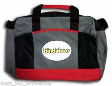 Bindaboo Baby Diaper Bag w/ Zipper, Front Pockets & Adjustable Strap red/black