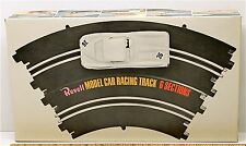"6pc 1box 1964 Revell 1:32 Slot Car 1/6 14"" Radius CURVE TRACK Boxed 3601 Riggen"