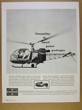 1962 Garrett-AiResearch 331 Gas Turbine Engine helicopter photo vintage print Ad
