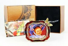 JAY STRONGWATER RED WITH BROWN BEE FRAME SWAROVSKI NEW BOX MADE IN USA
