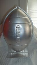 z- HOUSEWARE AUTHENTIC WILTON SILVER FOOTBALL CAKE PAN IN GREAT SHAPE