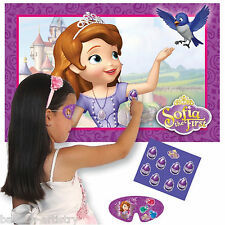 Disney's Sofia The First Princess Pin the Amulet Party Game for 8 Players BA