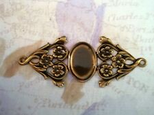 Antiqued Brass Fancy Connector Cameo Setting (1) - ANTRAT3317 Jewelry Finding