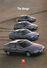 Citroen 1991-92 UK Market Sales Brochure AX ZX BX XM