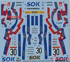 "1/24 2000 McLaren F1-GTr JGTC #30 ""SOK"" decal set by TABU ~ 24055 1:24th"
