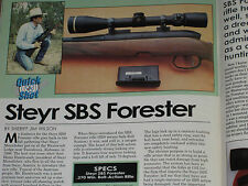 SHOOTING TIMES TEST STEYR SBS FORESTER, REM 300 ULTRA MAG + 40 S&W LOADS