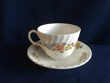 Aynsley Cottage Garden fluted tea cup & saucer (cup marked A & scratches ) C