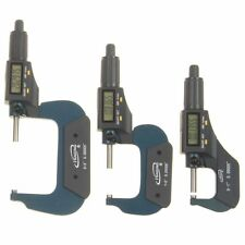 """3 pc 0-3""""/0.00005"""" Micrometer Digital Electronic Oustside X-Large LCD Individual"""