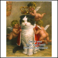 "Fridge Fun Refrigerator Magnet ""CAT WITH CROWN"" King Cat Poster Funny Painting"