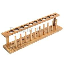 Wooden Laboratory Test Tube Rack 10 Holes & 10 Pins Holder Support Burette Stand