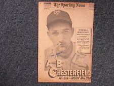 LARRY JANSEN  (New York Giants) Signed Chesterfield Ad-Sporting News-1949