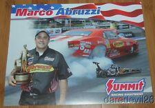 2014 Marco Abruzzi Summit '68 Chevy Camaro Top Sportsman ADRL NHRA postcard