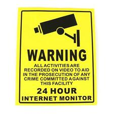 CCTV Security Camera System Warning Sign Sticker Decal Surveillance 200mmx250mm